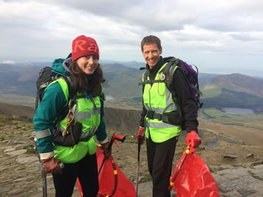 RAW Adventures - R3P volunteers, Louise and Ian on Snowdon