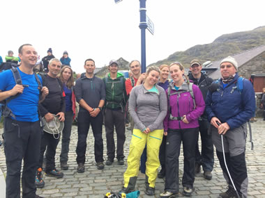 RAW Adventures - Some of Snowdon's amazing volunteers